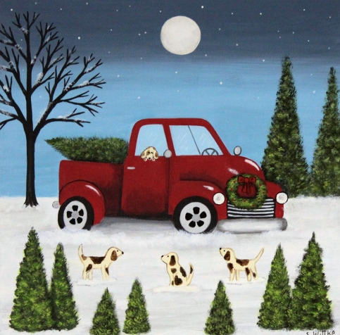 Red Truck and Beagles