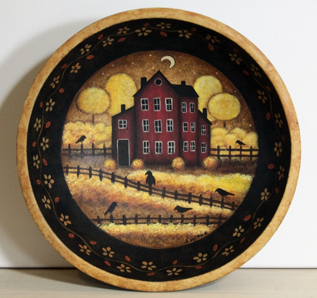 Crows on Fence Bowl