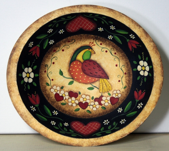 Folk Art Bird Bowl