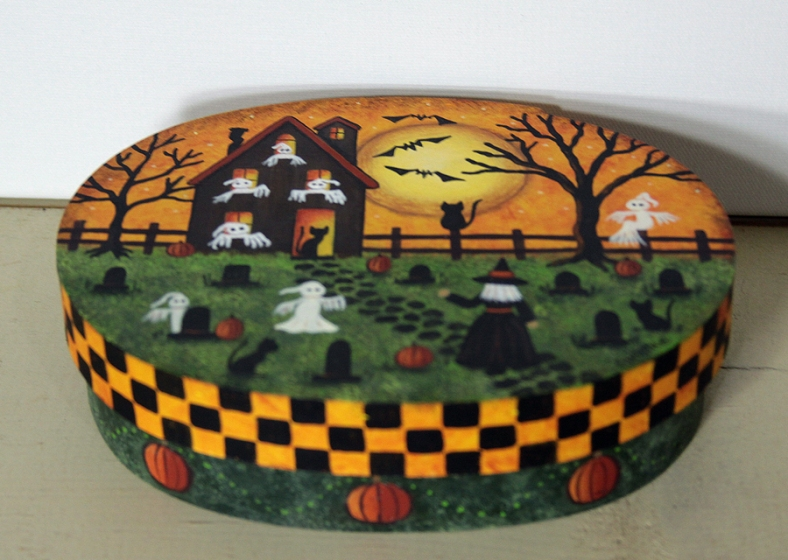 Ghost House Oval Box